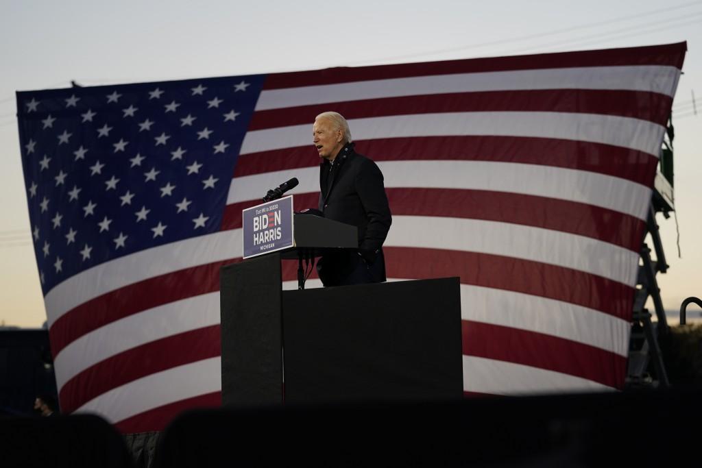 美國民主黨總統候選人拜登(美聯社圖片)。