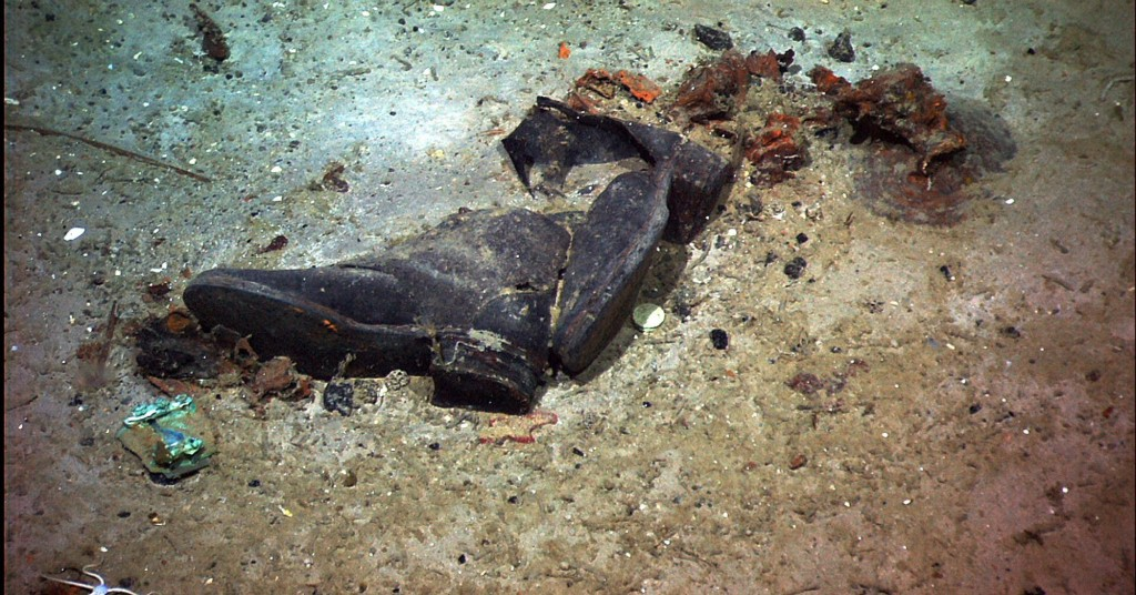 This 2004 image provided by the University of Rhode Island's Institute for Exploration and Center for Archaeological Oceanography and the National Oce...