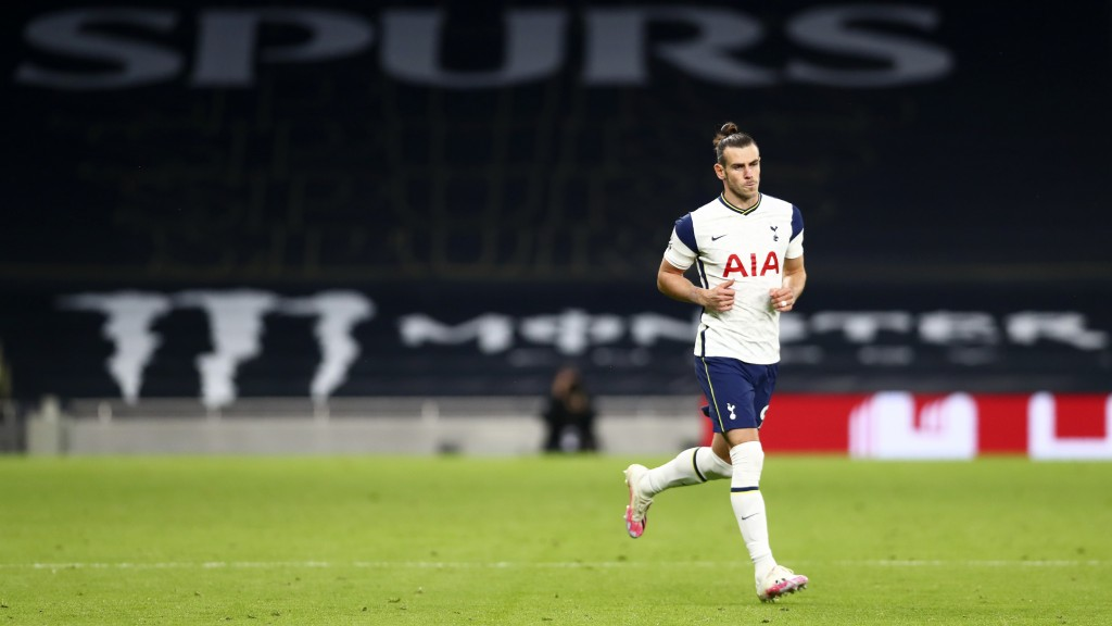 Tottenham's Gareth Bale enters pitch during the English Premier League soccer match between Tottenham Hotspur and West Ham United at the Tottenham Hot...