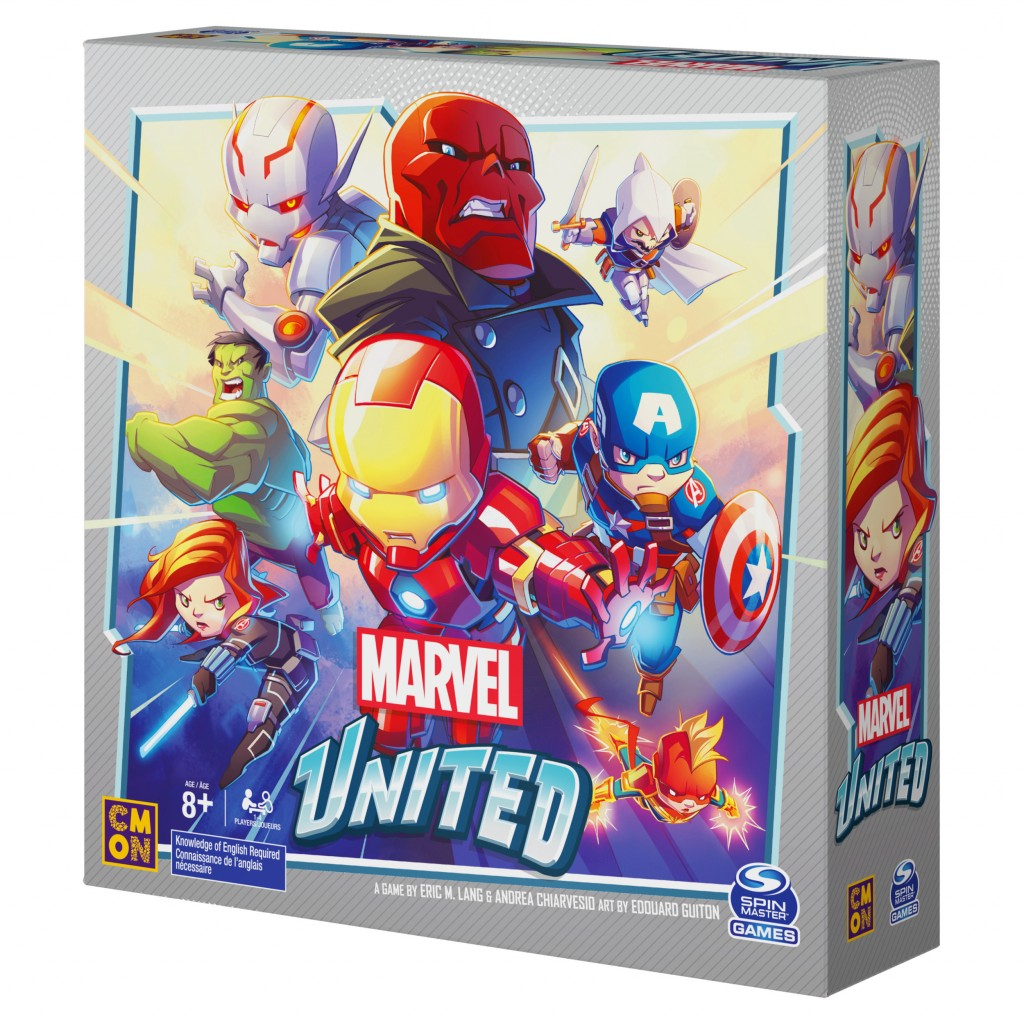 This product image released by Spin Master Games shows Marvel United, a fast-moving cooperative game where players take control of Marvel superheroes ...