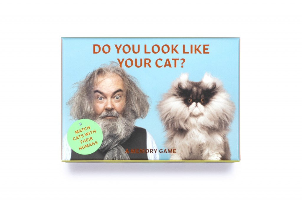"""This image shows """"Do You Look Like Your Cat?"""" a card memory game that matches cat cards with human cards. (Laurence King Publishing via AP)"""