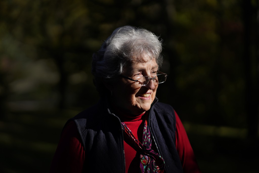 Nancy Strole poses for a portrait in Springfield Township, Mich., Thursday, Oct. 8, 2020. Strole, a longtime elected township clerk in the rural north...