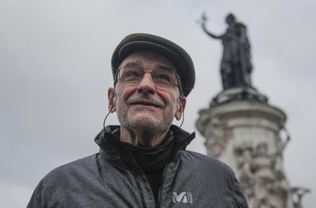 Josu Urrutikoetxea, a former leader of Basque separatist militant group ETA, speaks in Paris, Thursday, Oct. 15, 2020. Josu Urrutikoetxea, the last kn...