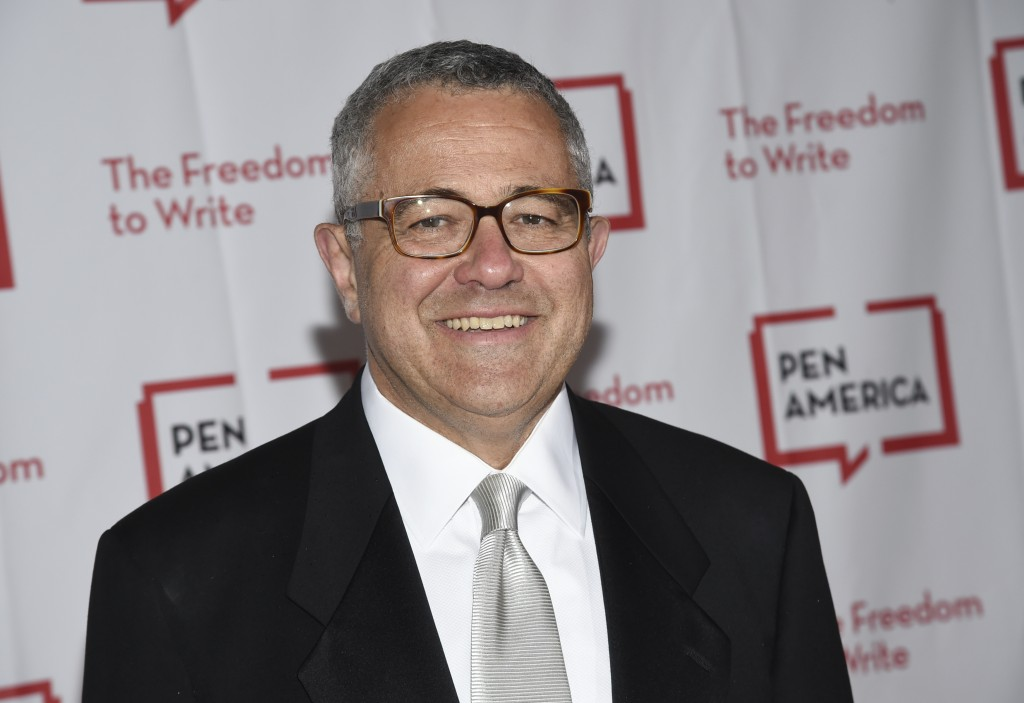 FILE - Lawyer and author Jeffrey Toobin attends the 2018 PEN Literary Gala in New York on May 22, 2018. Toobin has been suspended by the New Yorker an...