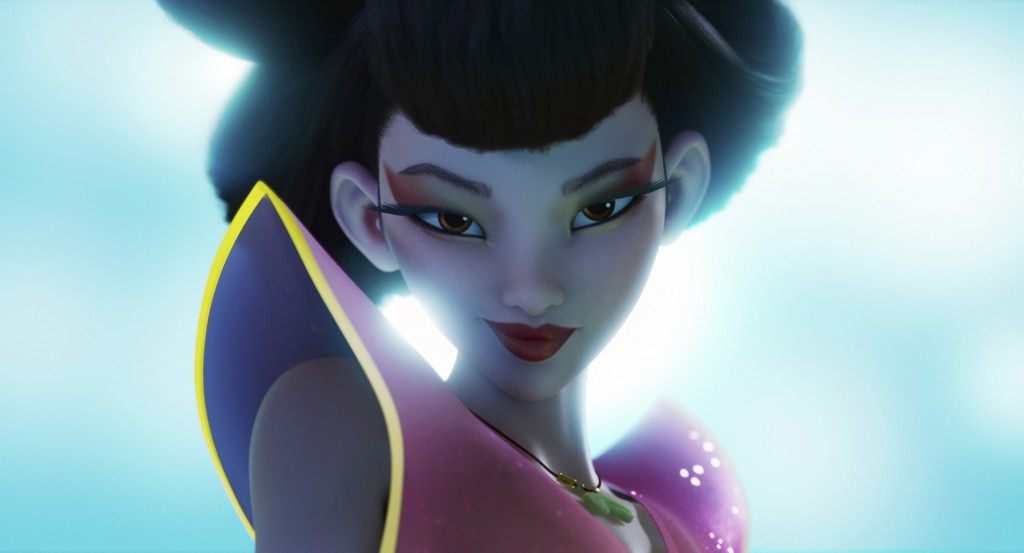 "This image released by Netflix shows the character Chang'e, voiced by Phillipa Soo, in a scene from ""Over the Moon."" (Netflix via AP)"