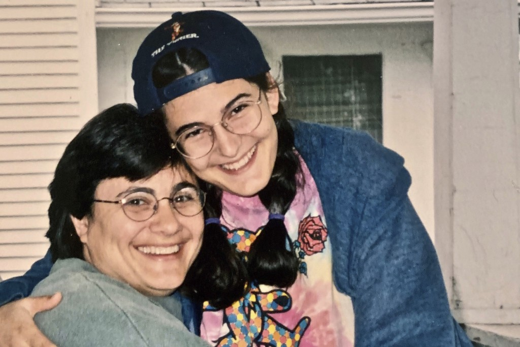 This 1990s image provided by Mary Belton, right, shows her with her mother Camellia Pisegna. Pisegna's family was expelled from the People of Praise c...