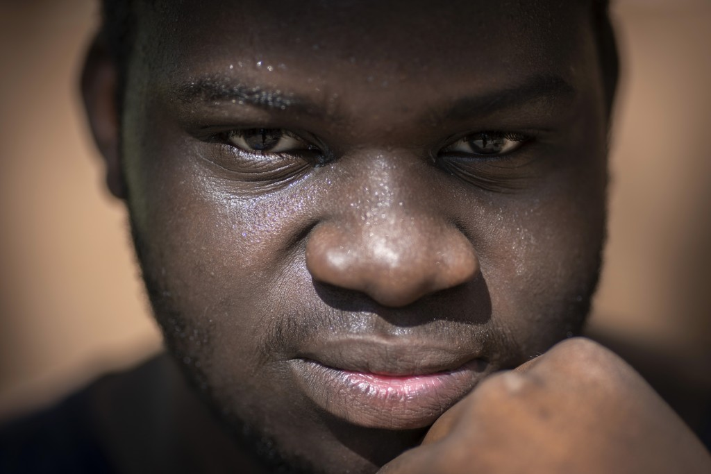 Davonta Oliver, 18, poses for a portrait, outside his home in Meridian, Miss., Wednesday, Oct. 7, 2020. Oliver, who decided not to vote, says that he ...