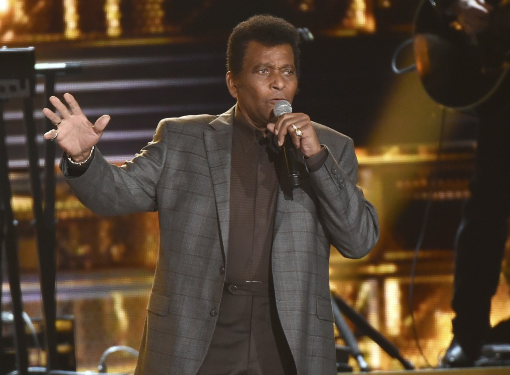 """FILE - Charley Pride performs """"Kiss An Angel Good Morning"""" at the 50th annual CMA Awards in Nashville, Tenn. on Nov. 3, 2016. Pride will get a lifetim..."""