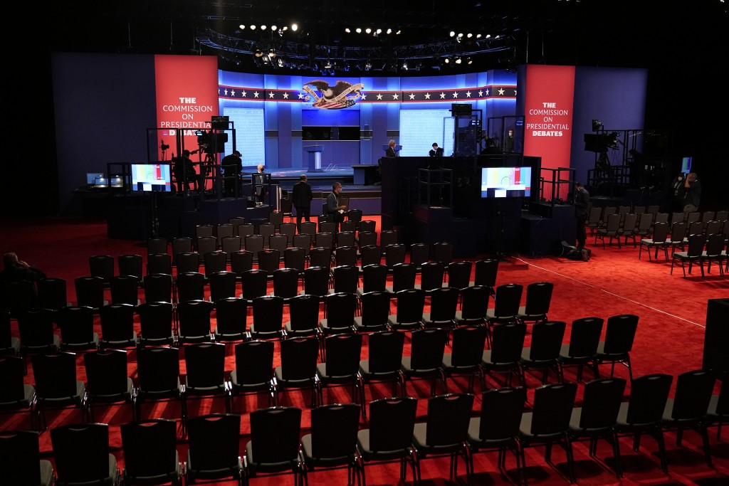 Preparations take place for the second Presidential debate between President Donald Trump and Democratic presidential candidate, former Vice President...