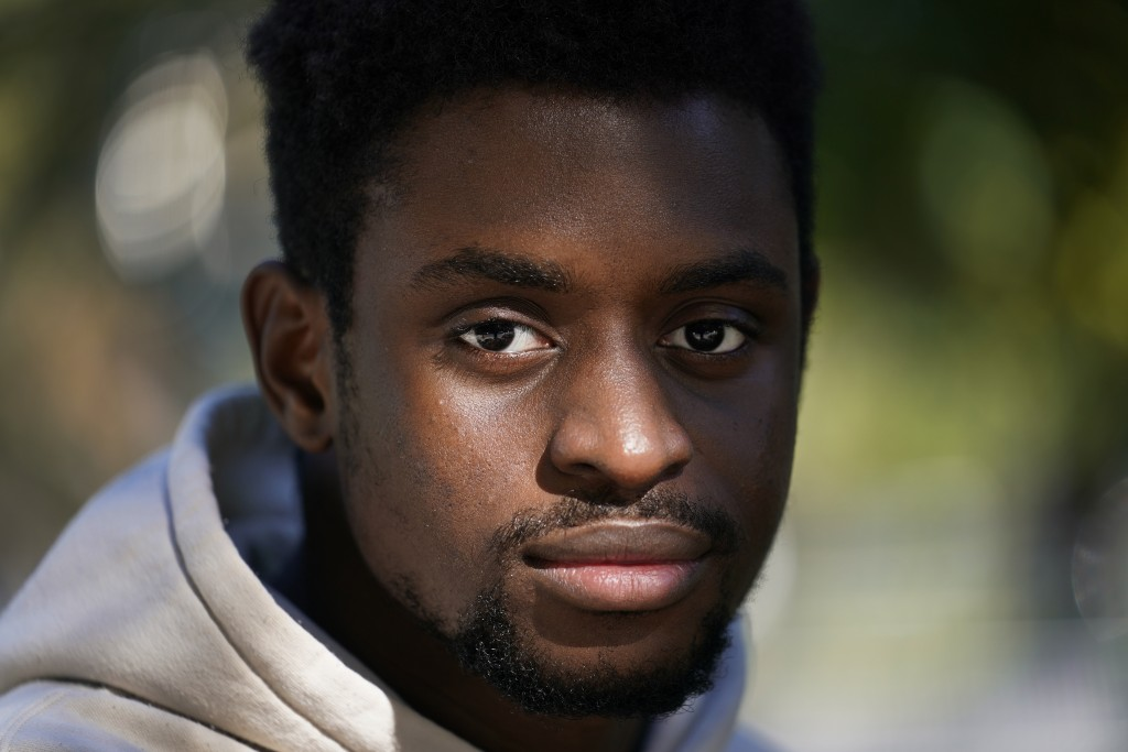 Illinois Institute of Technology student Wofai Ewa, originally from Nigeria, poses for a portrait Friday, Sept. 18, 2020, near the institute in Chicag...
