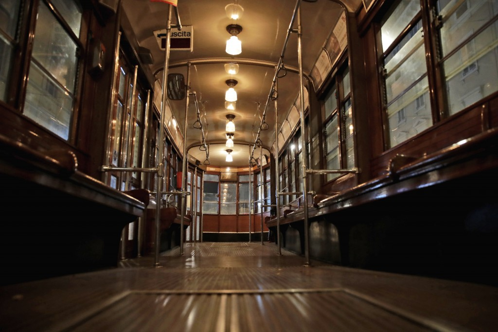 An empty tram street car runs in Milan, northern Italy, early Sunday, Oct. 25, 2020. Since the 11 p.m.-5 a.m. curfew took effect last Thursday, people...