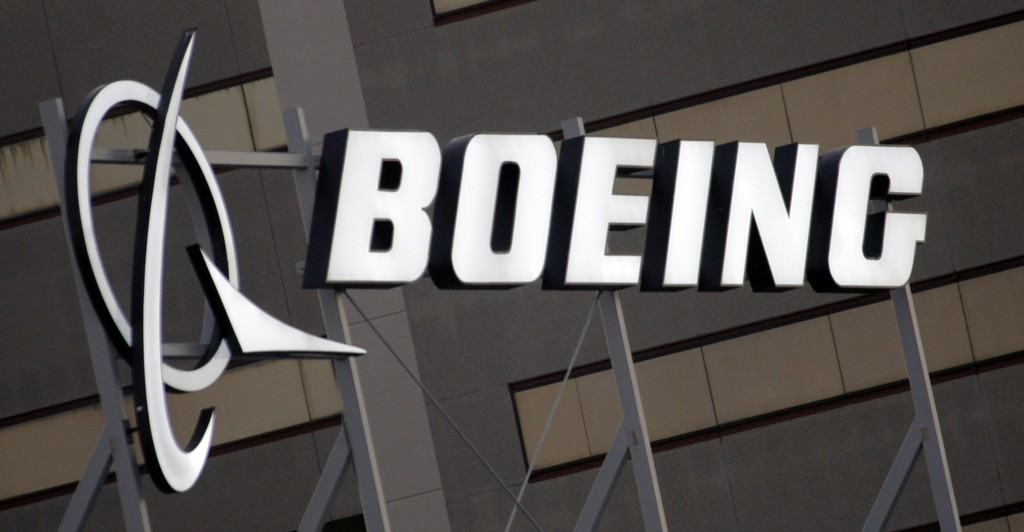 FILE - In this Jan. 25, 2011, file photo, is the Boeing Company logo on the property in El Segundo, Calif. China's government said Monday, Oct. 26, 20...