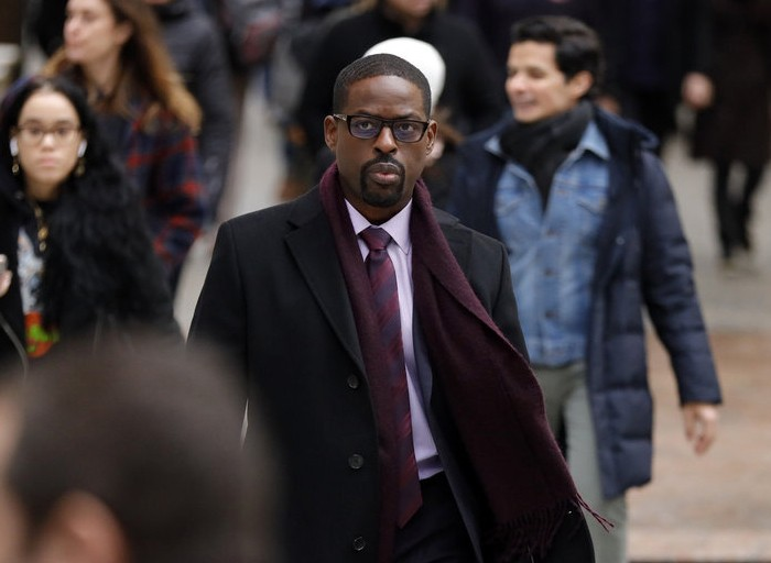 """This image released by NBC shows Sterling K. Brown in a scene from """"This Is Us."""" Season five debuts Tuesday and will address the pandemic and Black Li..."""