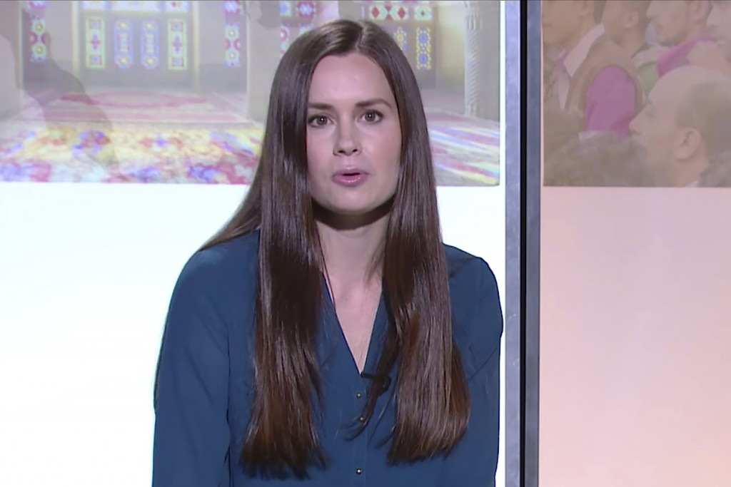 This image made from a 2017 video by The Modern Middle East shows Kylie Moore-Gilbert, a University of Melbourne scholar on the Middle East.  Australi...