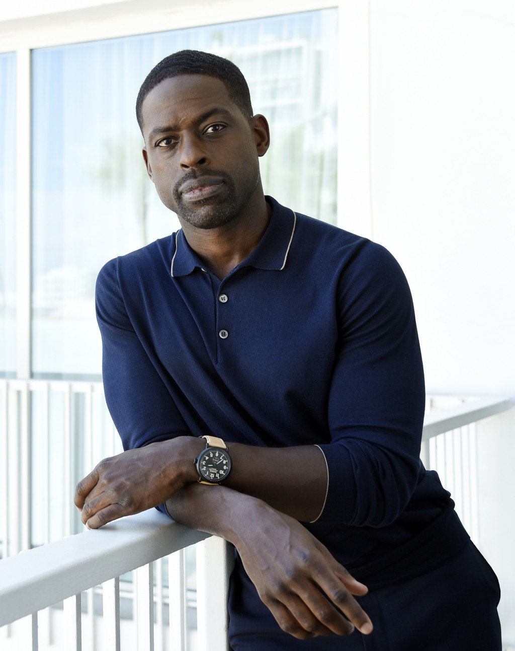 """FILE - Actor Sterling K. Brown, a cast member in the NBC series """"This Is Us,"""" poses for a portrait during the 2017 Television Critics Association Summ..."""