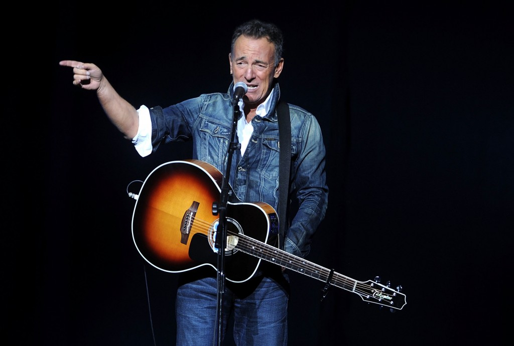 FILE - In this Nov. 5, 2018, file photo, Bruce Springsteen performs at the 12th annual Stand Up For Heroes benefit concert at the Hulu Theater at Madi...