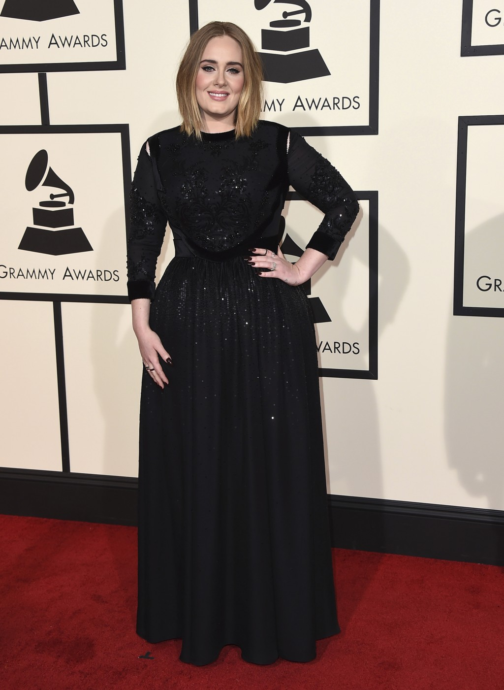 FILE - In this Feb. 15, 2016 file photo, Adele arrives at the 58th annual Grammy Awards in Los Angeles. Adele is among several musicians who are objec...