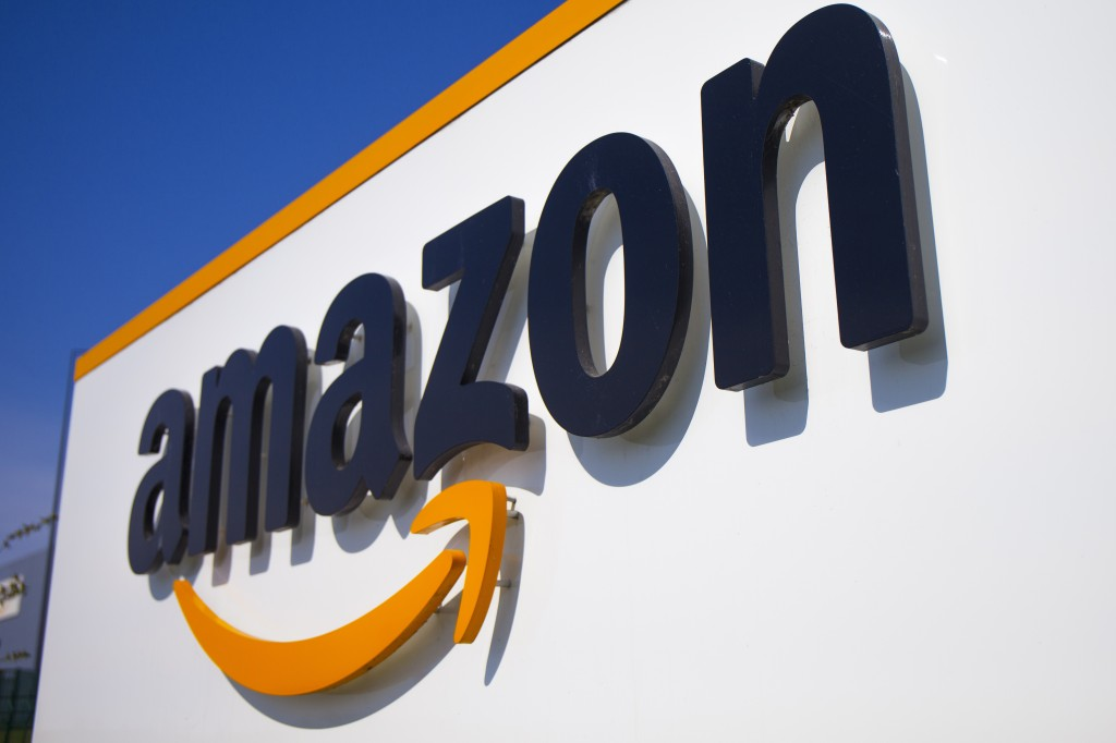 FILE - The Amazon logo appears in Douai, northern France on April 16, 2020. With many independent bookstore owners facing the most dire financial cris...