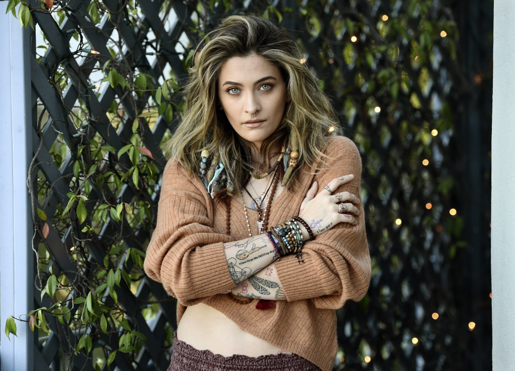 """Paris Jackson poses for a portrait in Beverly Hills, Calif., on Oct. 27, 2020, to promote her debut solo album """"Wilted,"""" releasing on Nov. 13. Her new..."""