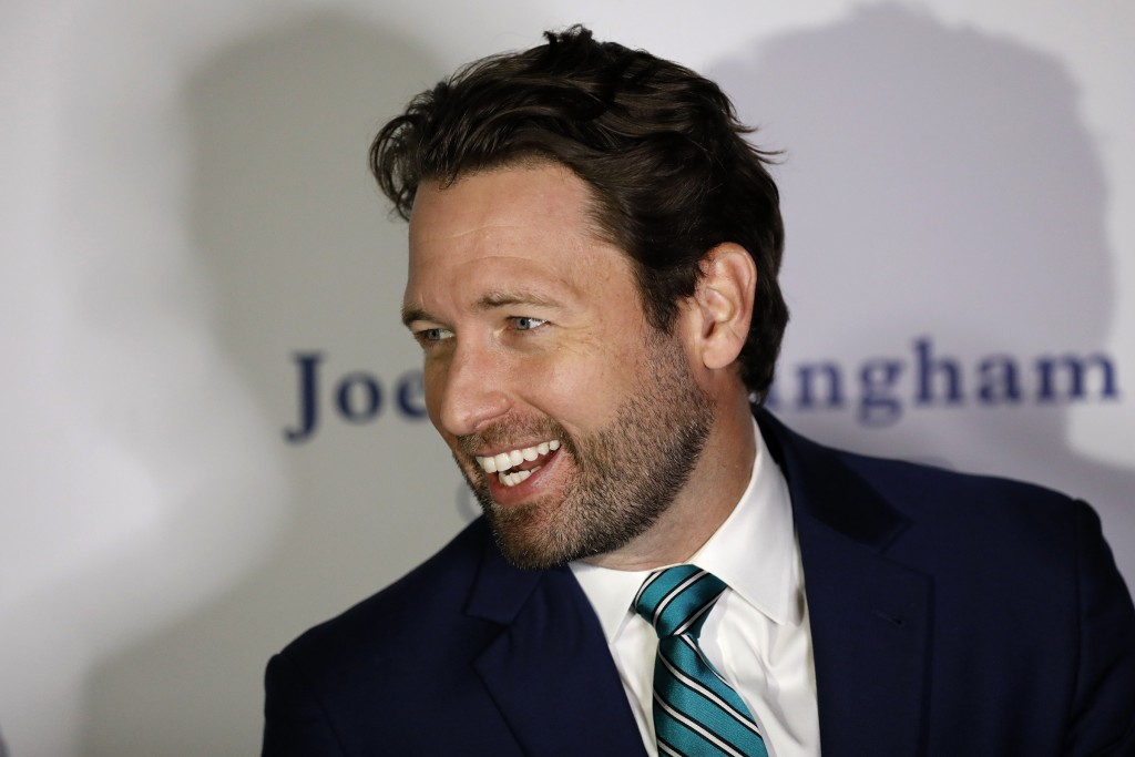 Democratic U.S. Rep. Joe Cunningham speaks to the media and supporters during his Election Night partyTuesday, Nov. 3, 2020, in Charleston, S.C. Cunni...