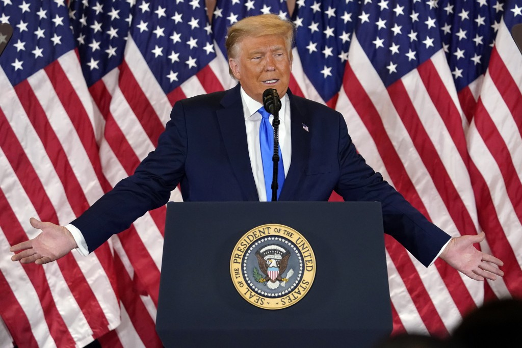 Trump falsely claims victory, after rival Biden voices confidence