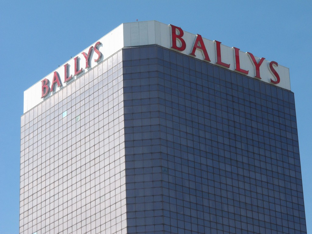 This Oct. 1, 2020, photo shows the exterior of Bally's casino in Atlantic City, N.J. On Nov. 4, 2020, officials with Twin River Worldwide Holdings, a ...