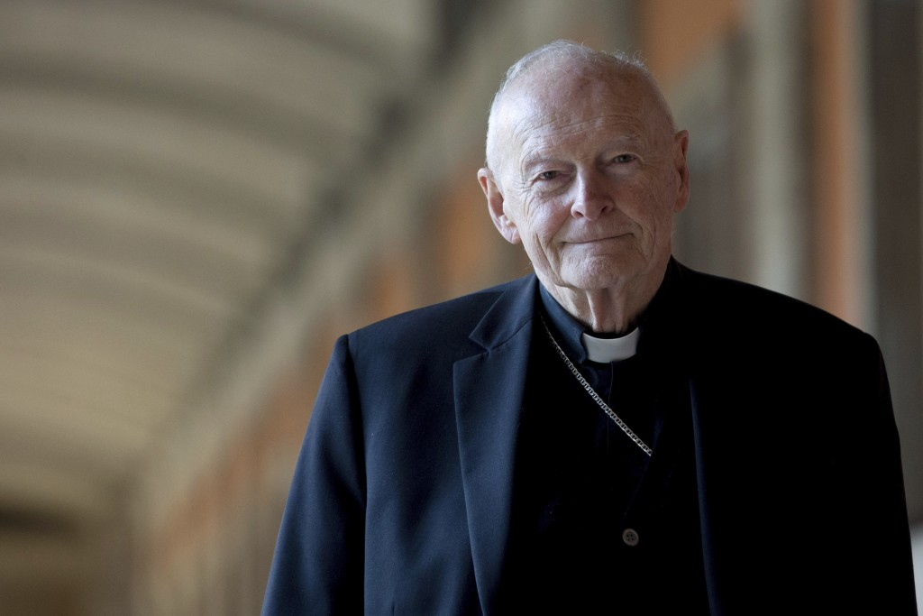 FILE - In this Feb. 13, 2013 file photo, Cardinal Theodore Edgar McCarrick poses for a photo in Rome. The Vatican on Tuesday will release its long-awa...