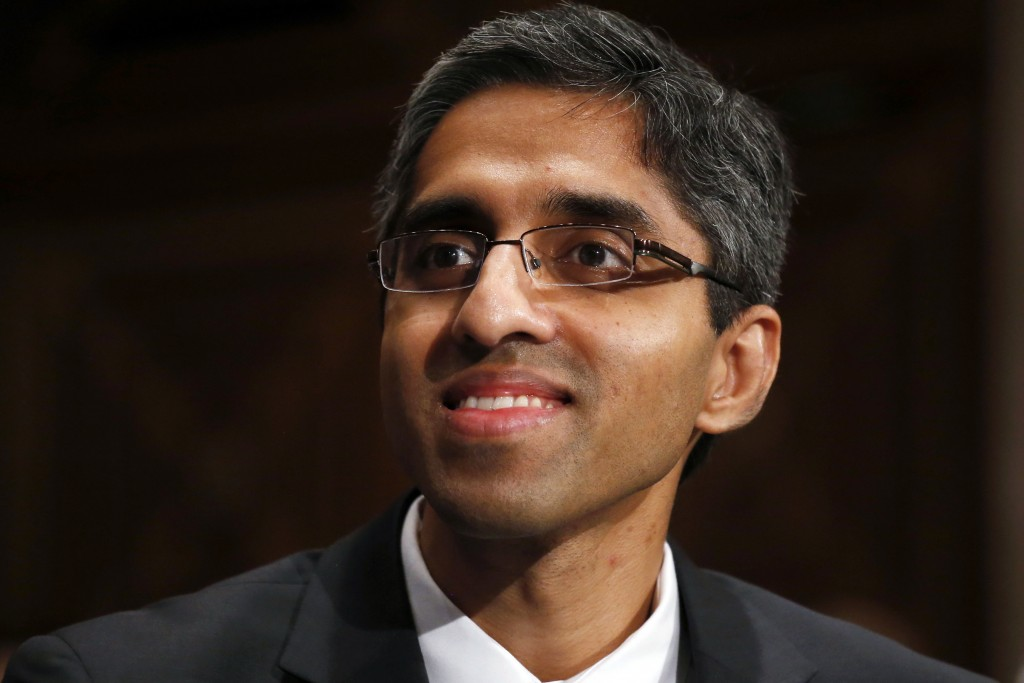 FILE - In this Feb. 4, 2014, photo, then U.S. Surgeon General appointee Dr. Vivek Murthy appears on Capitol Hill in Washington. Murthy has been named ...