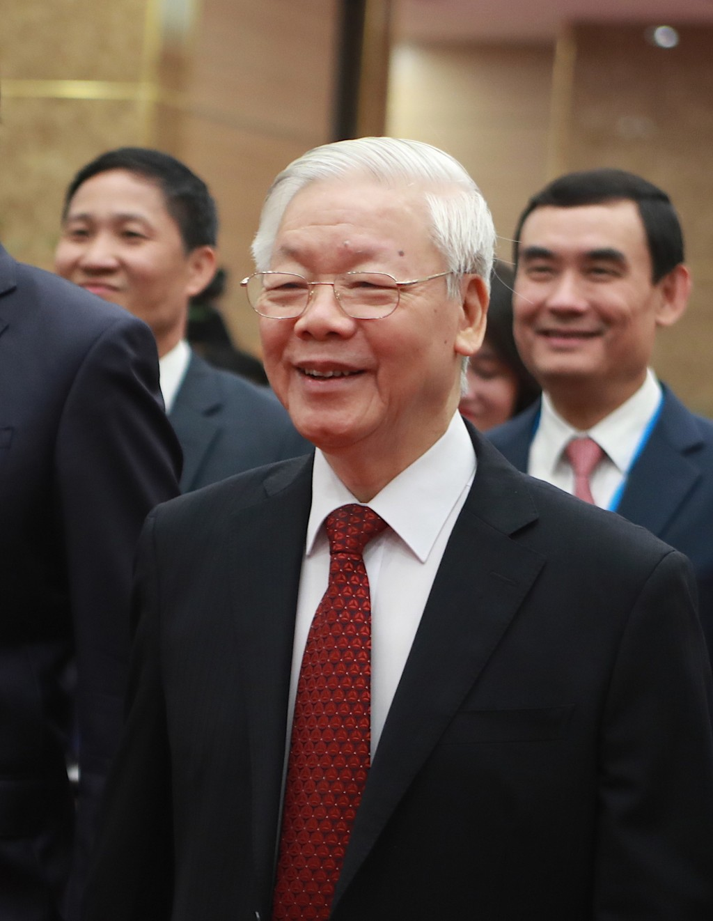 Vietnamese Communist Party General Secretary Nguyen Phu Trong arrives at the venue for the online ASEAN Summit in Hanoi, Vietnam on Thursday, Nov. 12,...