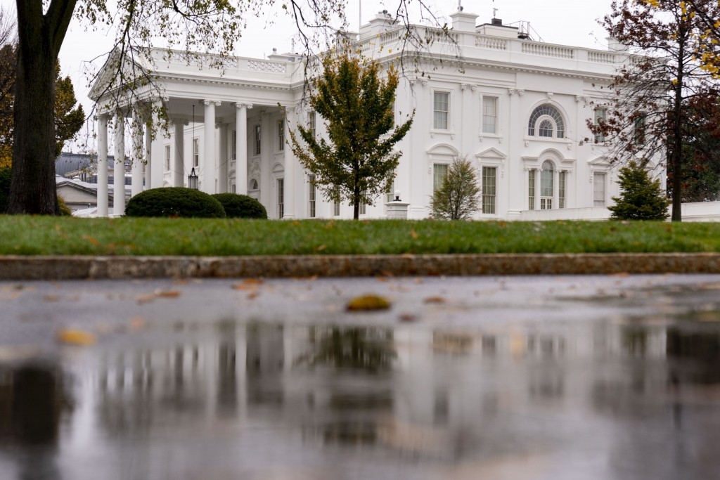 The White House is shown Thursday, Nov. 12, 2020, in Washington. (AP Photo/Andrew Harnik)