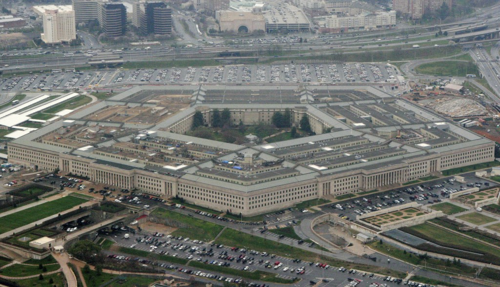 FILE - This March 27, 2008 file photo shows the Pentagon in Washington. In a first for the Pentagon's push to develop defenses against intercontinenta...