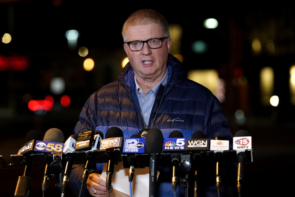 Wauwatosa Police chief Barry Weber speaks at a news conference, Friday, Nov. 20, 2020, in Wauwatosa, Wis. Multiple people were shot Friday afternoon a...