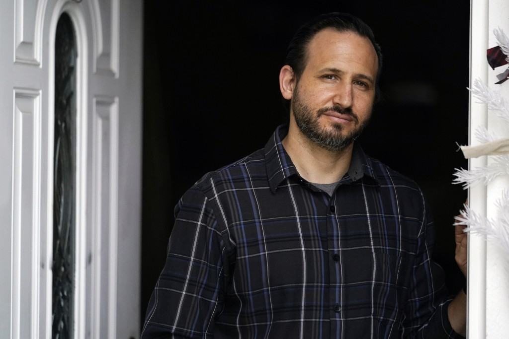 Nicholas Philbrook poses for a photo at home, Wednesday, Nov. 18, 2020, in Camarillo, Calif. Philbrook has been trying to convince court officials tha...