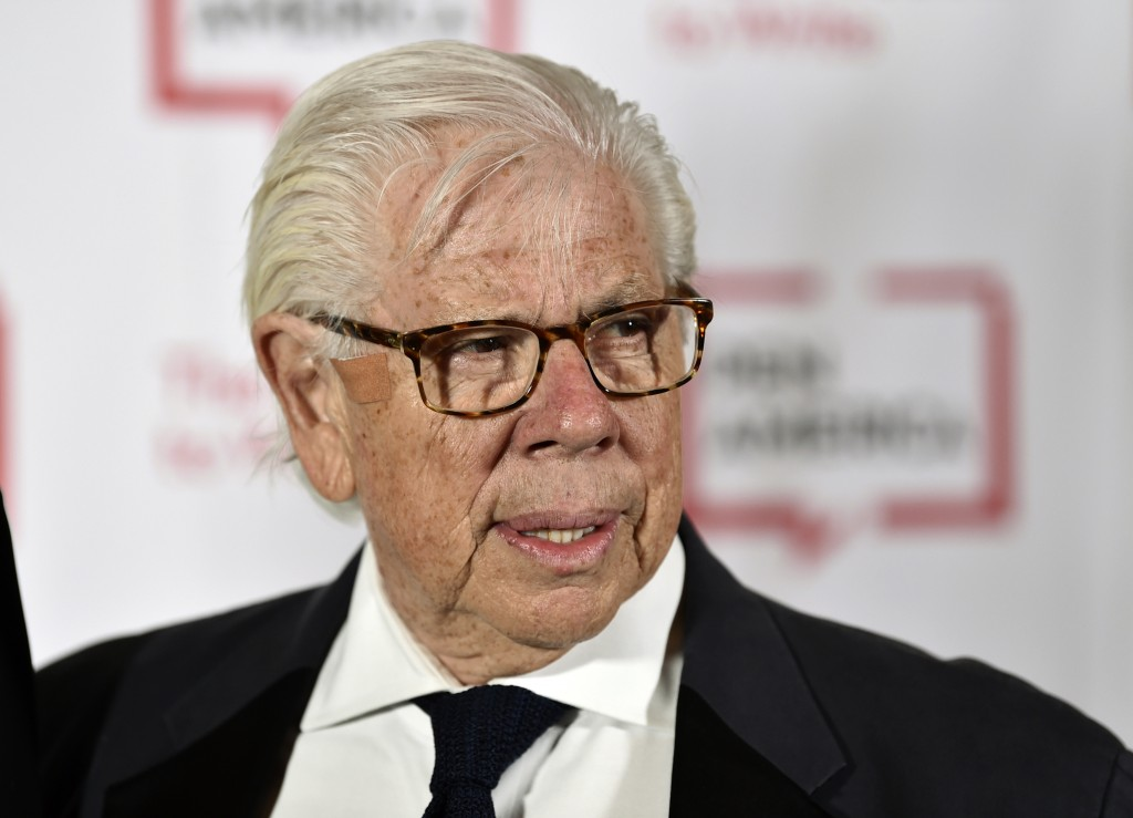 FILE - Journalist Carl Bernstein attends the 2018 PEN Literary Gala in New York on May 22, 2018. Bernstein took to Twitter to specifically 'out' 21 Re...