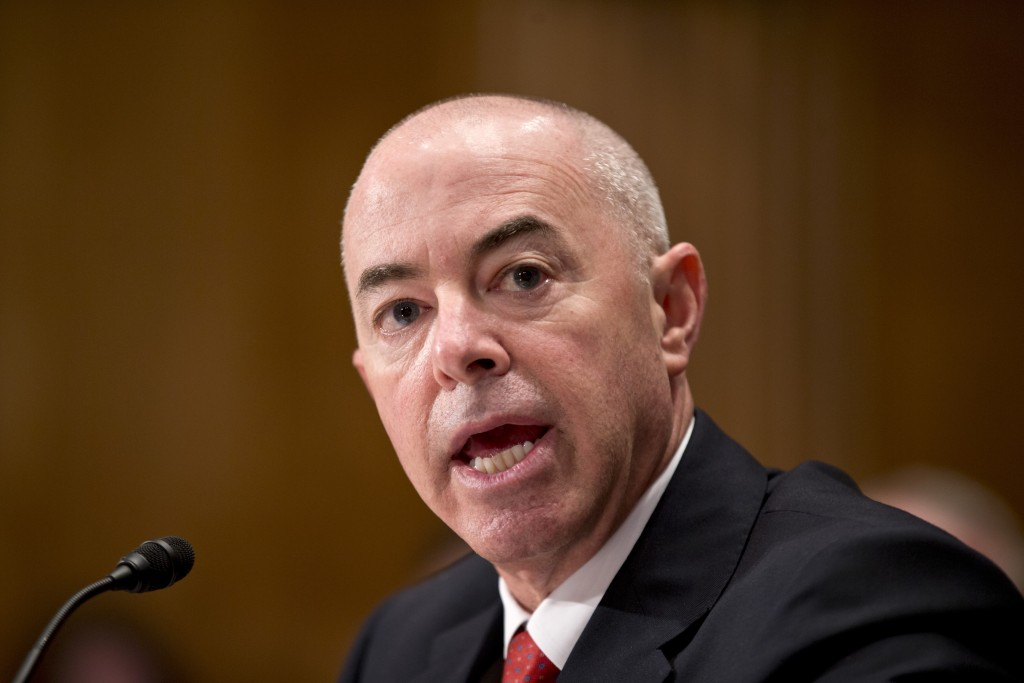 FILE - In this July 25, 2013, file photo Alejandro Mayorkas, President Obama's nominee to become deputy secretary of the Homeland Security Department,...