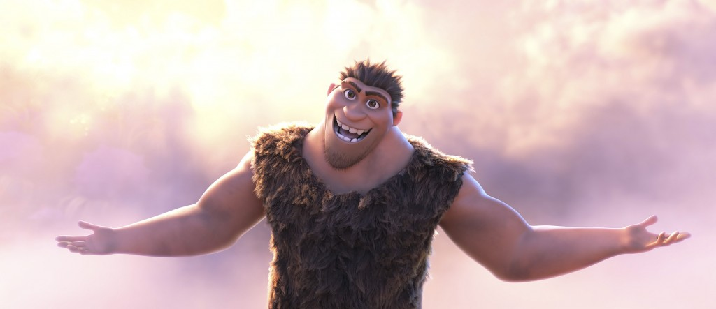 """This image released by DreamWorks shows Grug Crood, voiced by Nicolas Cage, in a scene from the animated film """"The Croods: A New Age."""" (DreamWorks Ani..."""