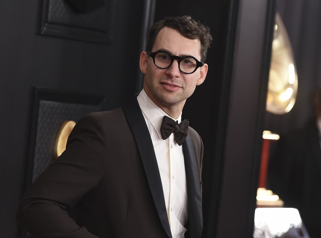 Jack Antonoff arrives at the 62nd annual Grammy Awards on Jan. 26, 2020, in Los Angeles. Antonoff, along with Dan Auerbach, Dave Cobb, Flying Lotus an...