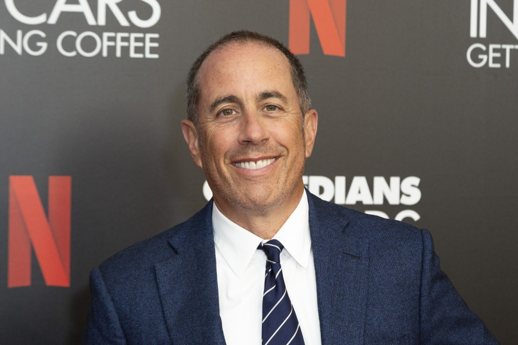 """FILE - This July 17, 2019 file photo shows Jerry Seinfeld at the """"Comedians In Cars Getting Coffee,"""" photo call in Beverly Hills, Calif. In Seinfeld's..."""