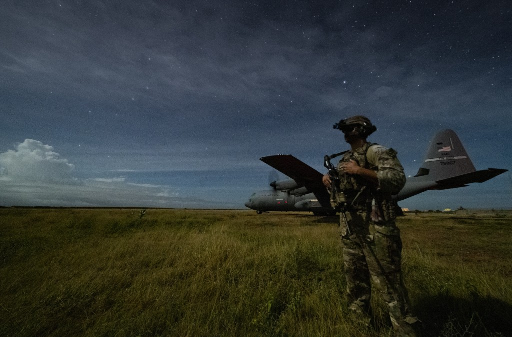 U.S. Army Spc. Kevin Martin, junior sniper, assigned to the 1-186th Infantry Battalion, Task Force Guardian, Combined Joint Task Force - Horn of Afric...