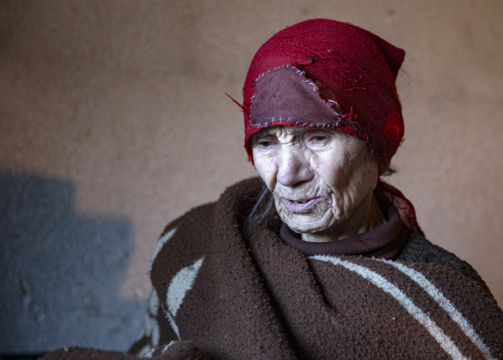 Kosovo Serb Blagica Dicic a lonely 92-year old woman in a remote village of Vaganesh, regularly visited by Kosovo Albanian neighbor Fadil Rama bringin...