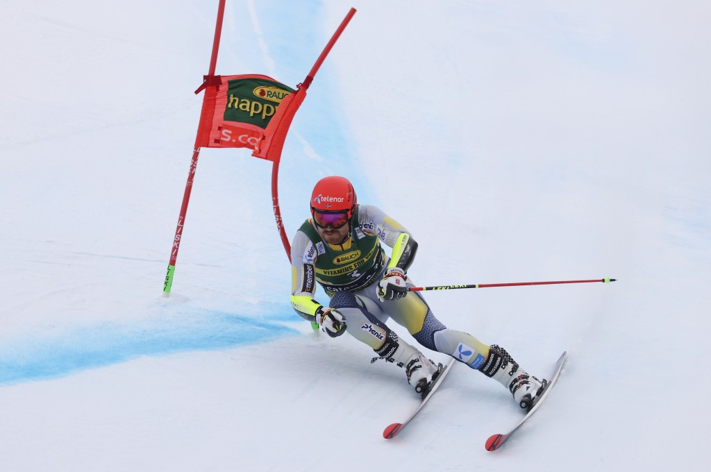 Norway's Leif Kristian Nestvold Haugen competes during the first run of an alpine ski, World Cup men's giant slalom in Santa Caterina Valfurva, Italy,...