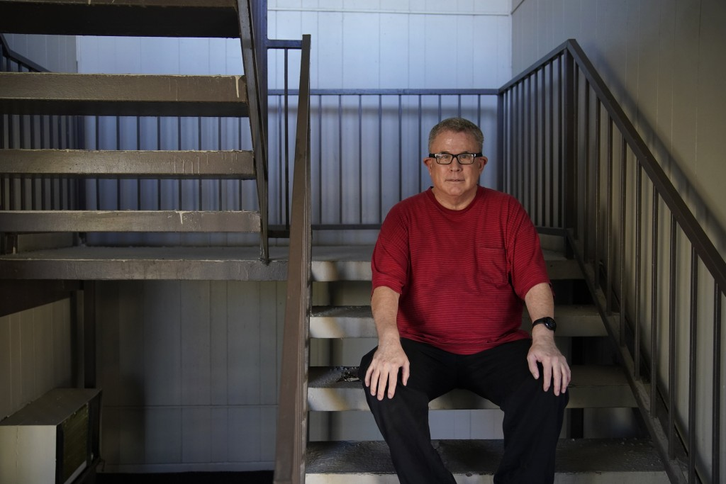 Larry Holt, poses for a portrait outside of his apartment, Thursday, Nov. 19, 2020, in Las Vegas. Holt lost his casino job during the coronavirus pand...