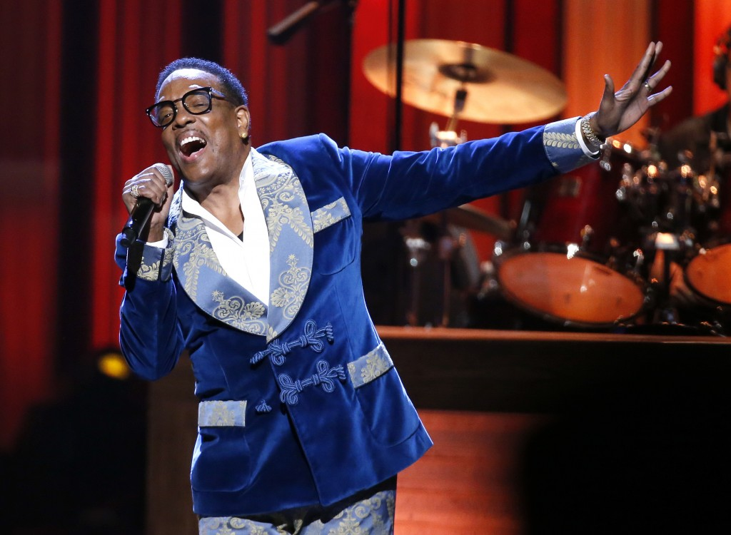 """FILE - In this Oct. 8, 2018, photo, Charlie Wilson performs during """"An Opry Salute to Ray Charles"""" at the Grand Ole Opry House in Nashville, Tenn. Wil..."""