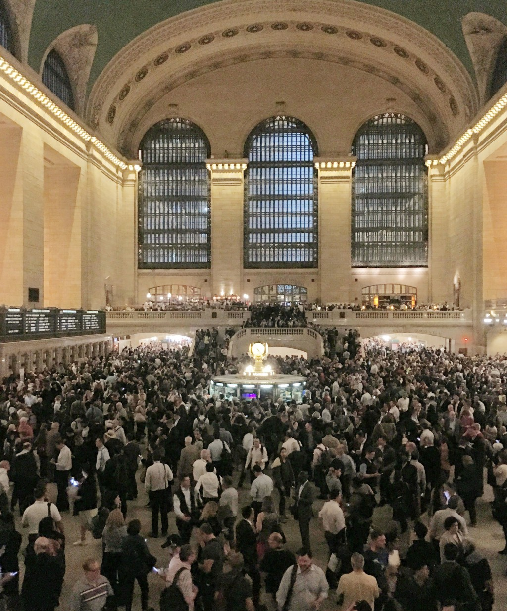 Commuters crowd the Grand Central Terminal in New York on Tuesday, May 15, 2018. Asian American households saw the biggest income growth of any racial...