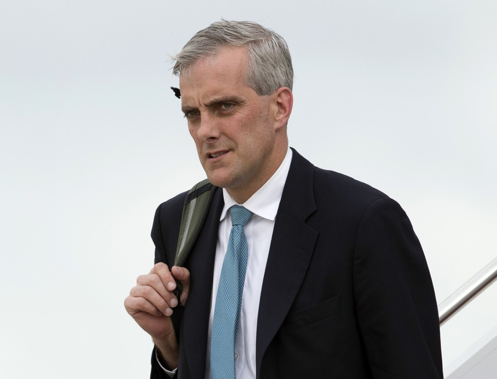 FILE - In this May 19, 2013, file photo, White House Chief of Staff Denis McDonough returns to Andrews Air Force Base, Md., after a trip with Presiden...