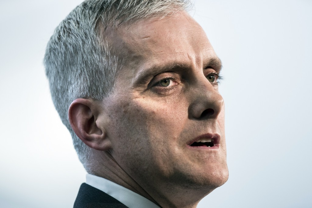 FILE - In this March 28, 2014, file photo, White House Chief of Staff Denis McDonough speaks during a retirement ceremony at the National Security Age...