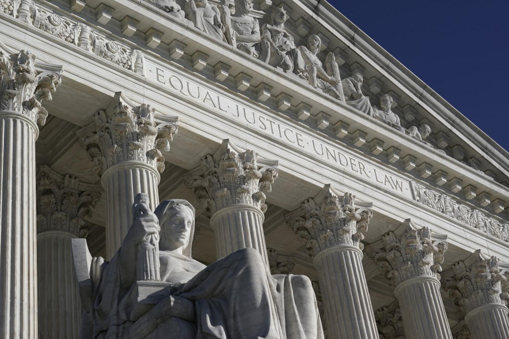 FILE - In the Nov. 4, 2020 photo, The Supreme Court in Washington. A unanimous Supreme Court ruled Thursday that Muslim men who were placed on the gov...