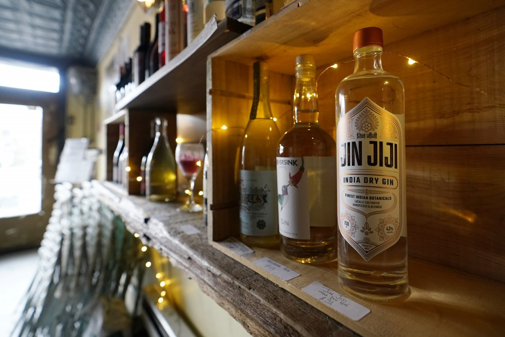 Bottles of organic and biodynamically-produced wine, whiskey and liquor line the shelves at Barbès, a popular neighborhood music venue and bar which w...