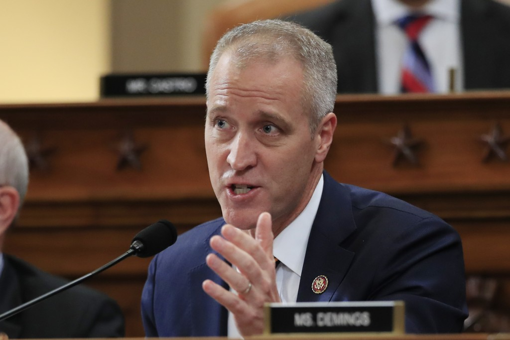 FILE - This photo from Thursday Nov. 21, 2019, shows Rep. Sean Patrick Maloney, D-N.Y., during a meeting of the House Intelligence Committee on Capito...