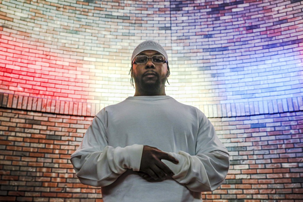 FILE - In this Oct. 23, 2019, file photo, Myon Burrell stands for a photograph at the Stillwater Correctional Facility in Stillwater, Minn. He was con...